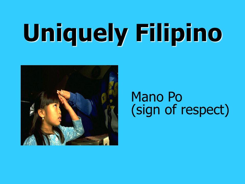 Uniquely Filipino Mano Po (sign of respect)
