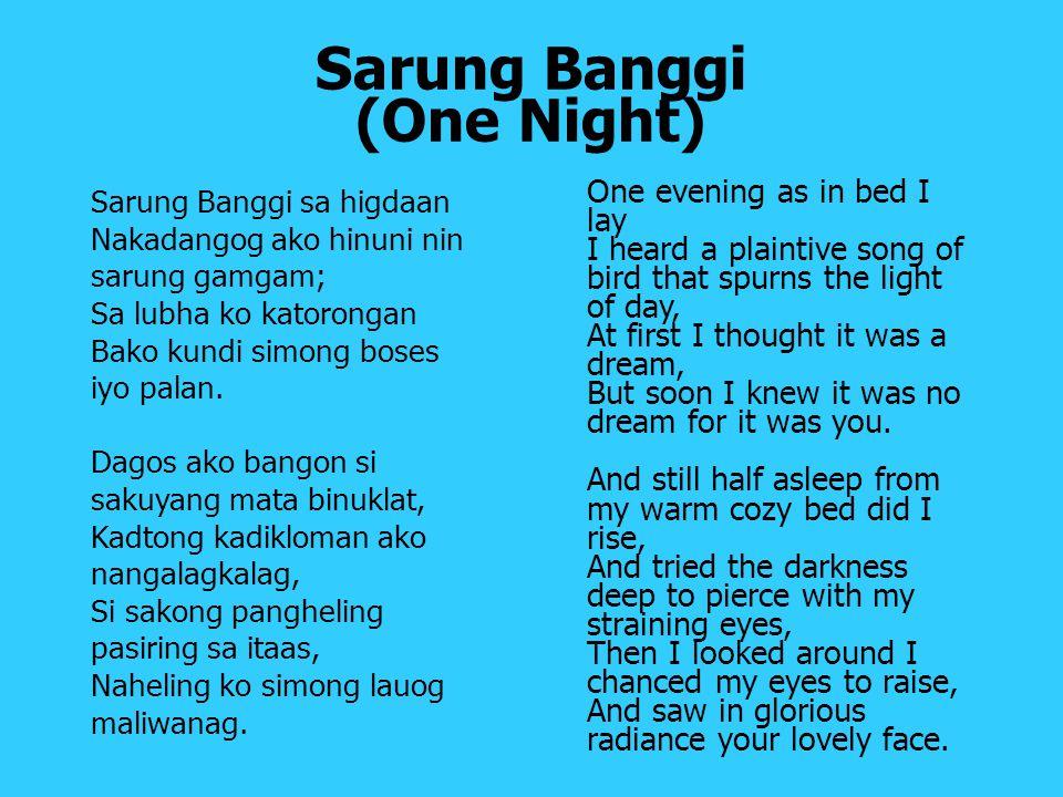 Sarung Banggi (One Night)