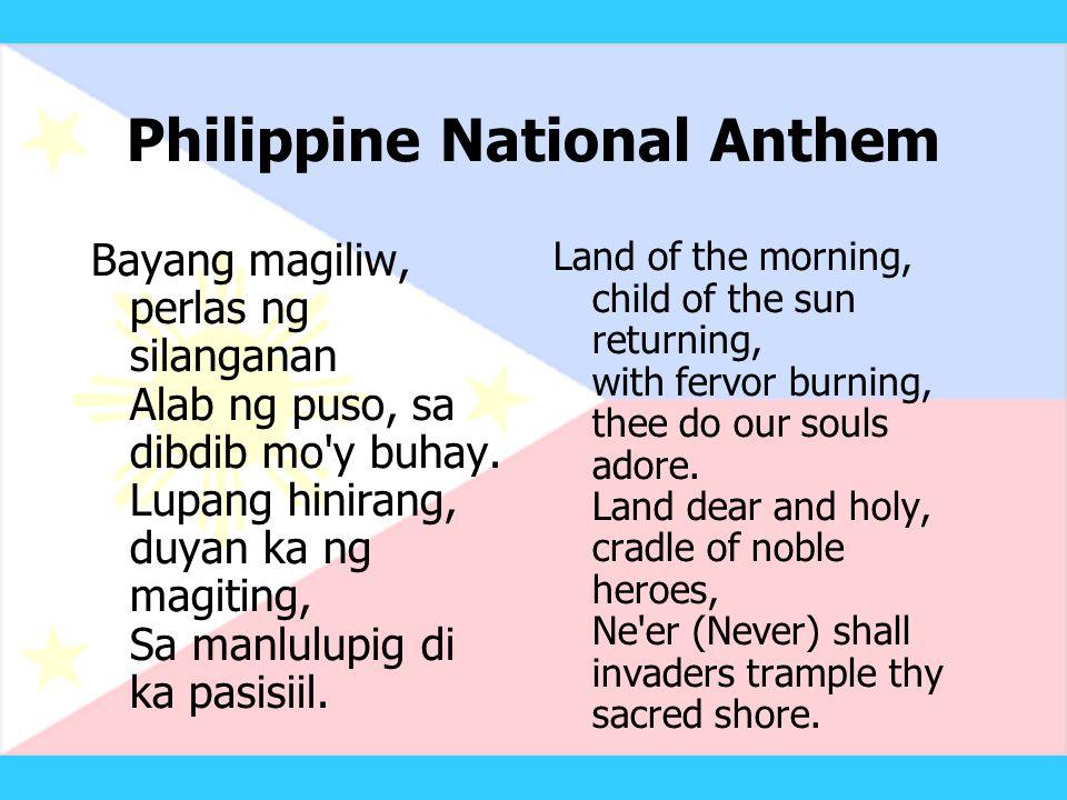 Philippine National Anthem
