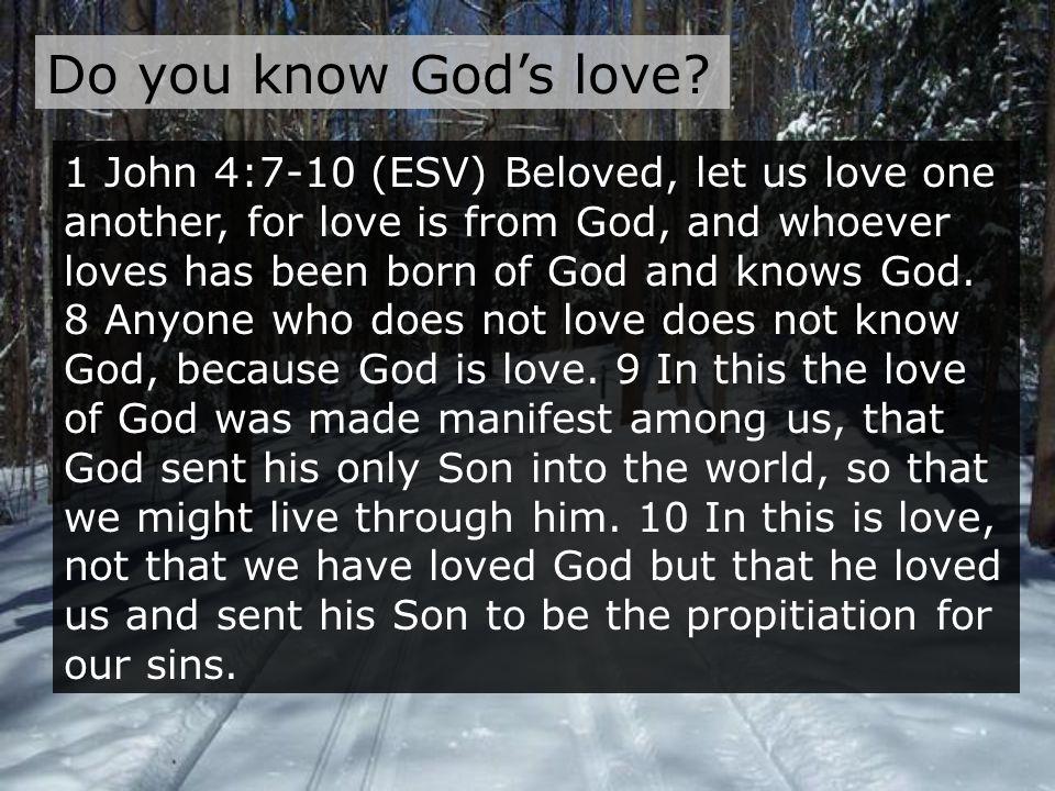 Do you know God's love