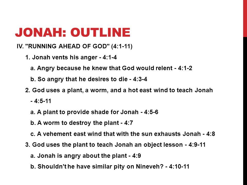 Jonah: outline