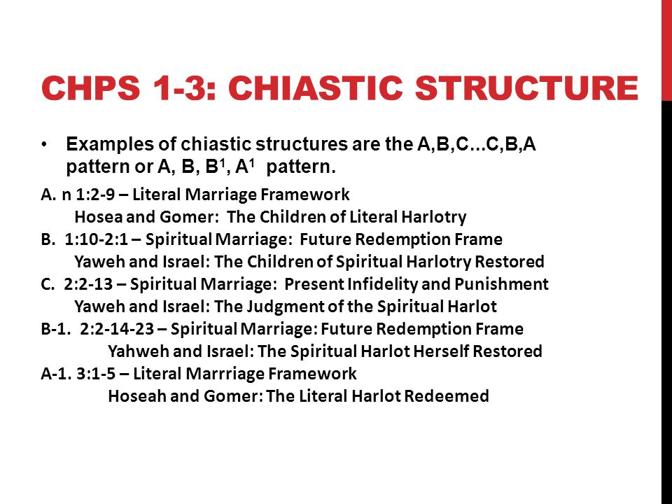 Chps 1-3: Chiastic Structure