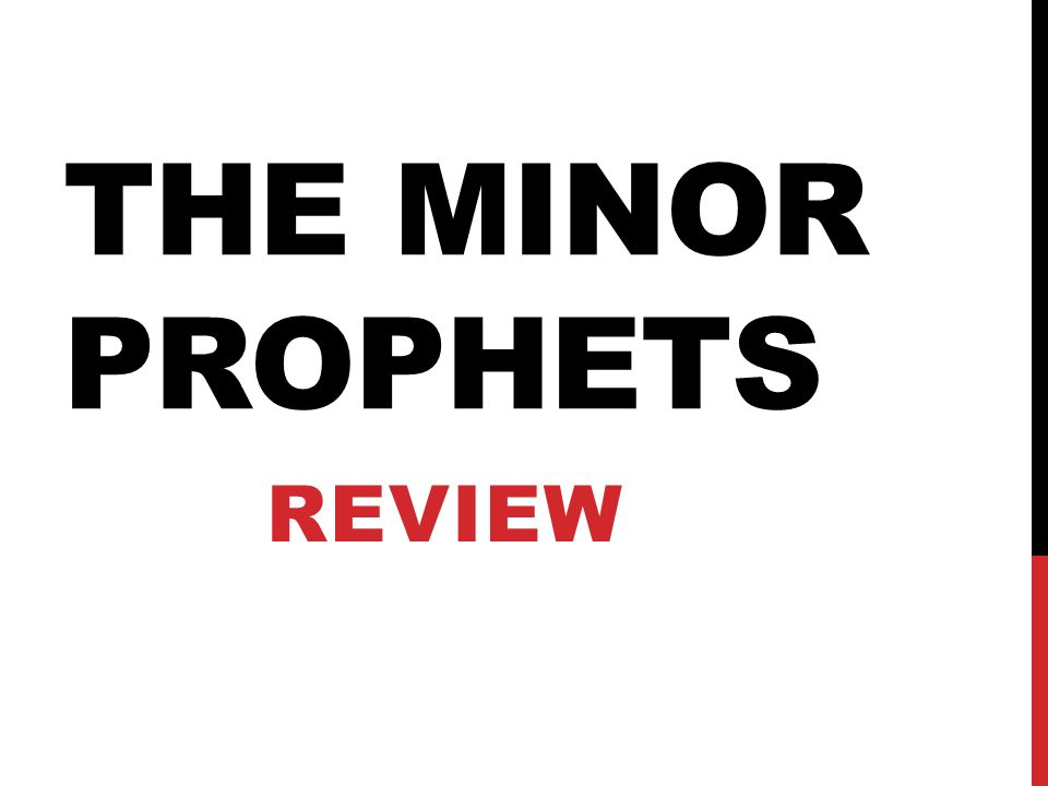 The minor prophets Review