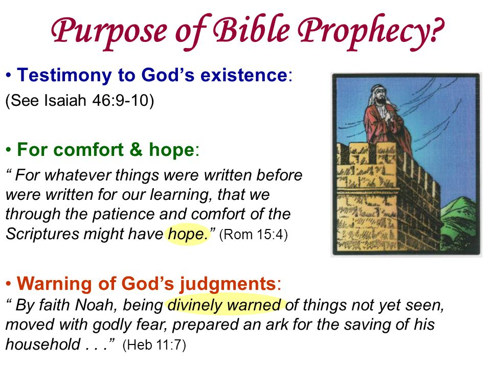 Purpose of Bible Prophecy