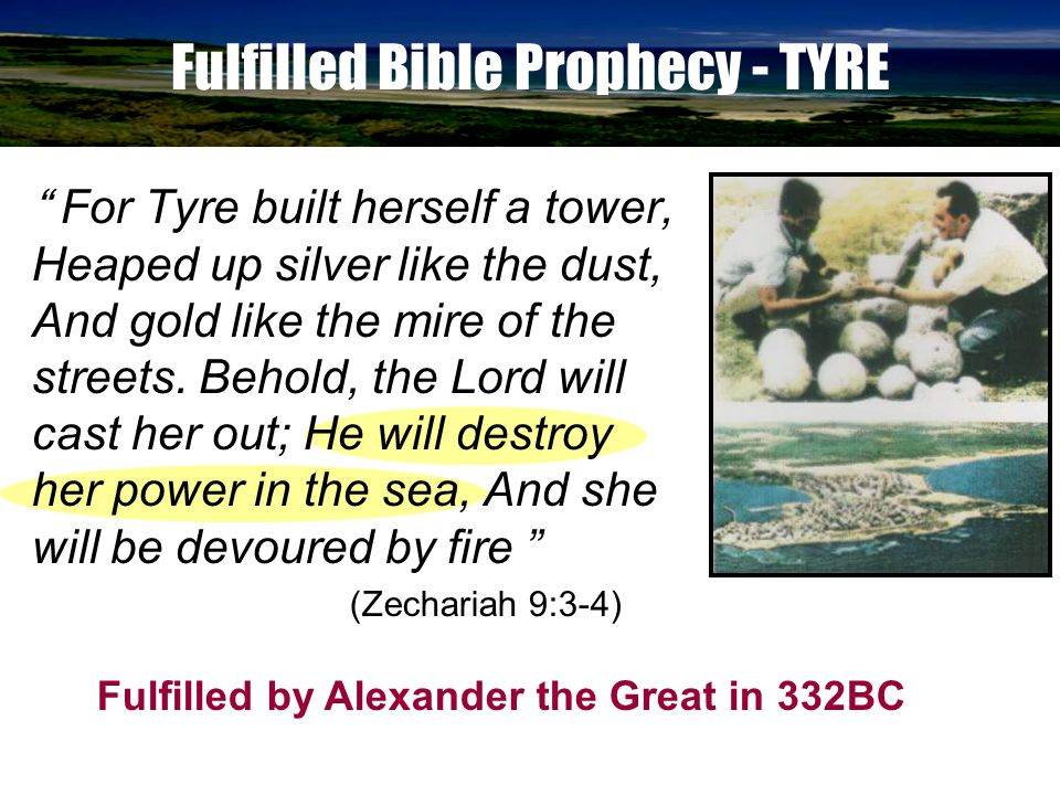 Fulfilled Bible Prophecy - TYRE