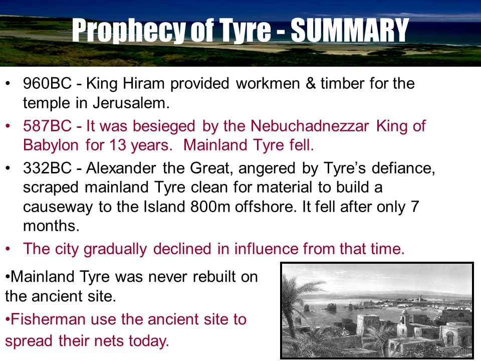 Prophecy of Tyre - SUMMARY
