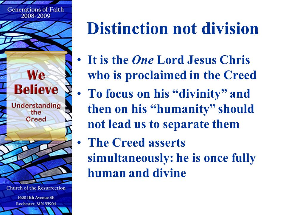 Distinction not division
