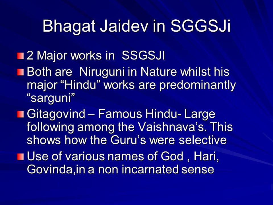 Bhagat Jaidev in SGGSJi