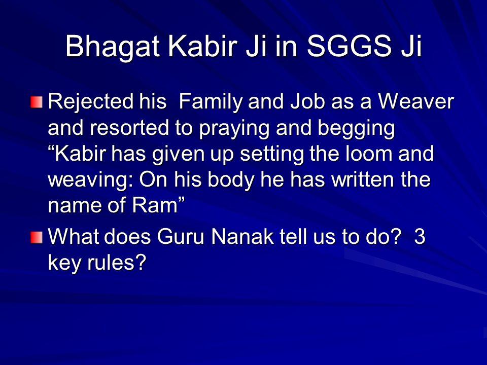 Bhagat Kabir Ji in SGGS Ji