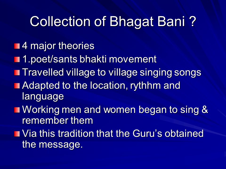 Collection of Bhagat Bani