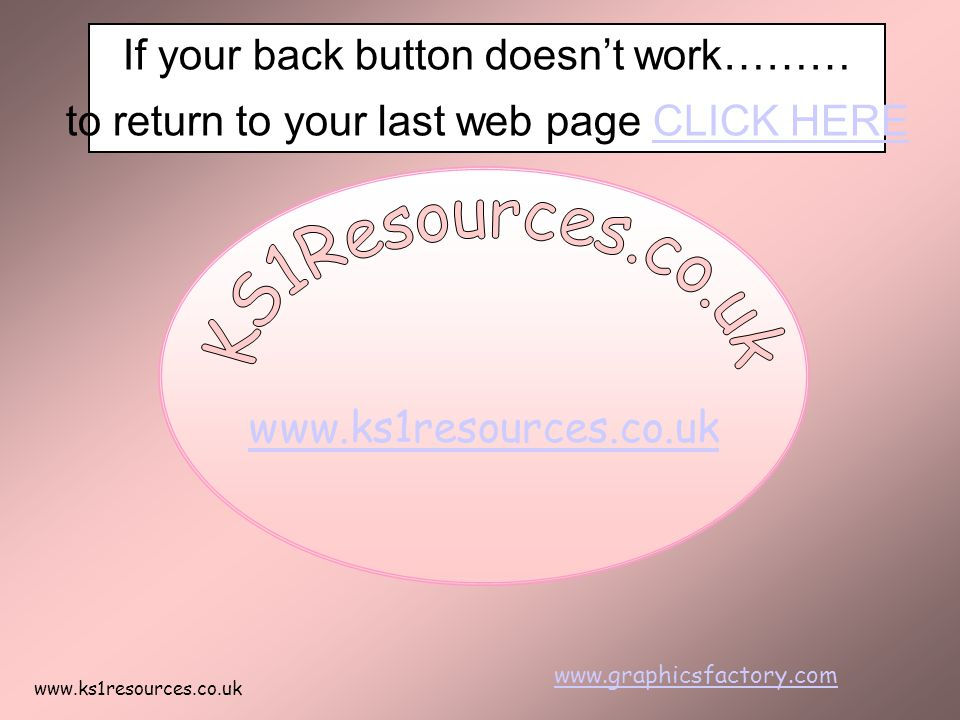 KS1Resources.co.uk If your back button doesn't work………
