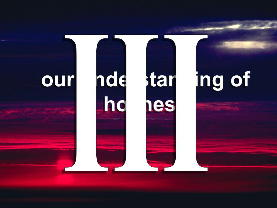 our understanding of holiness