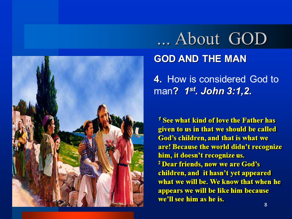 ... About GOD GOD AND THE MAN