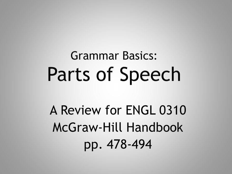 Grammar Basics: Parts of Speech