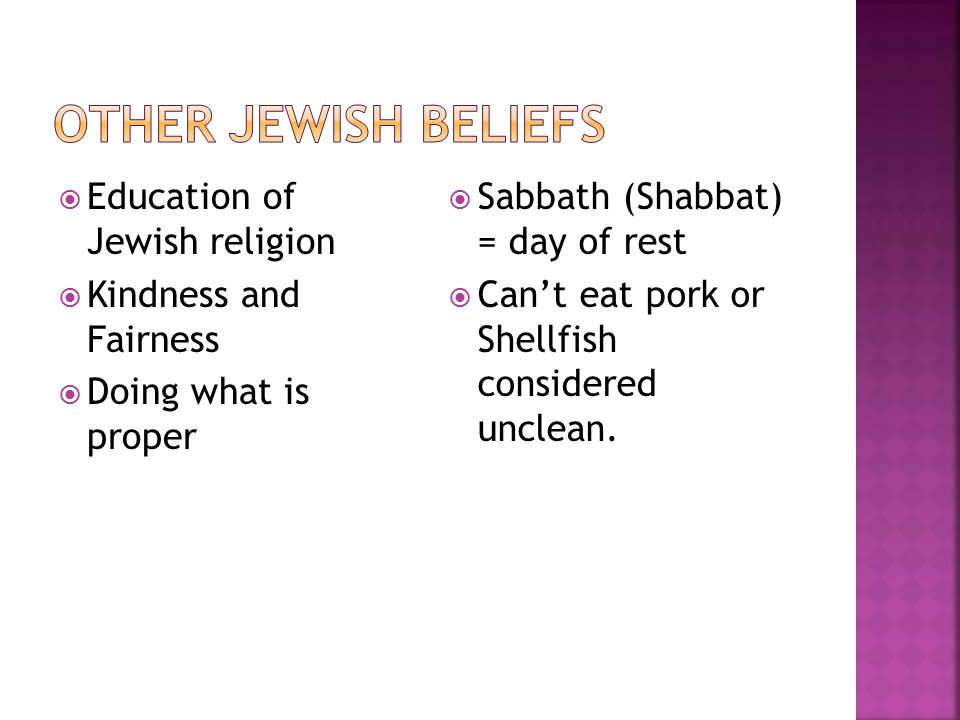 Other Jewish Beliefs Education of Jewish religion
