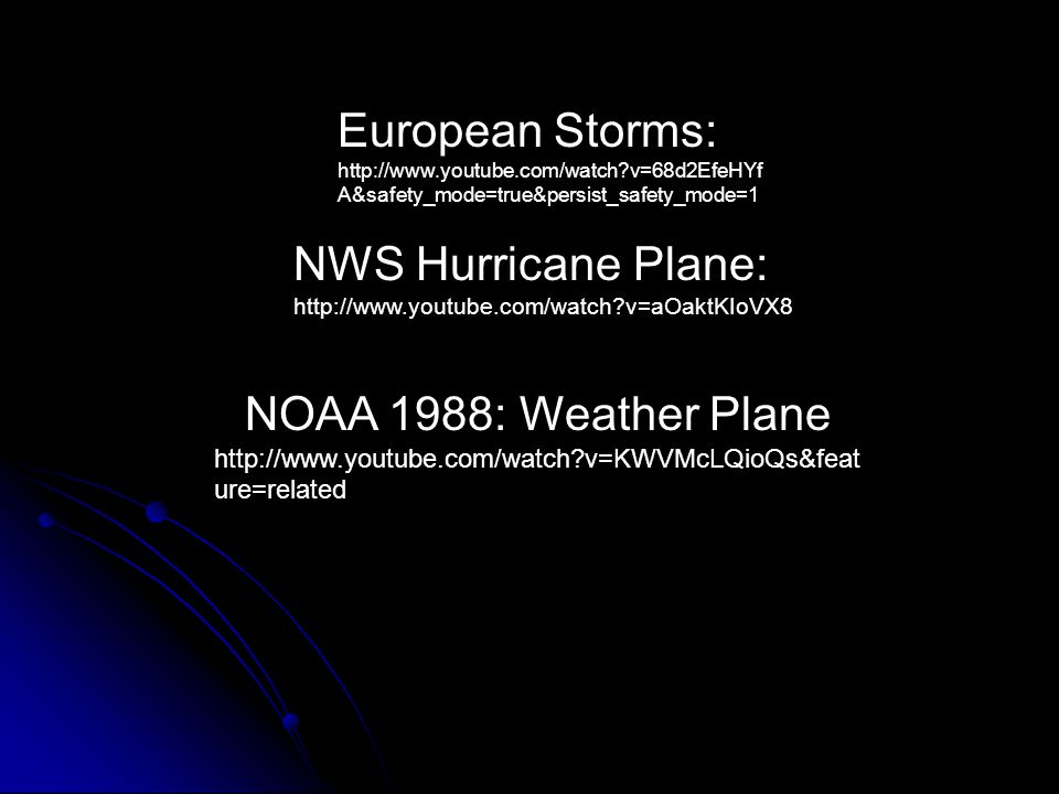 European Storms: NWS Hurricane Plane: NOAA 1988: Weather Plane