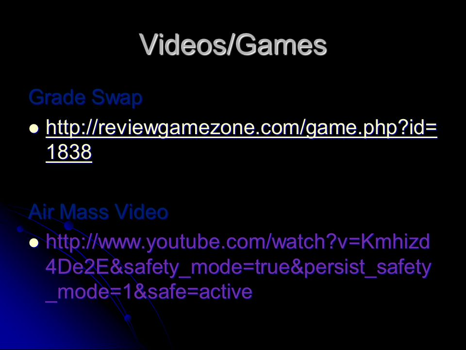 Videos/Games Grade Swap http://reviewgamezone.com/game.php id=1838