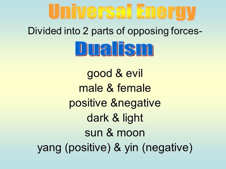 yang (positive) & yin (negative) Dualism