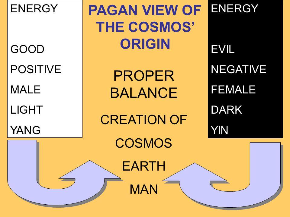 PAGAN VIEW OF THE COSMOS' ORIGIN
