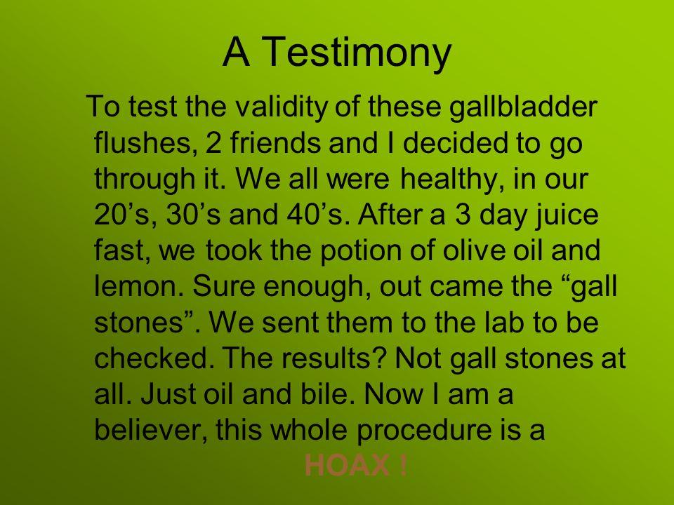 A Testimony