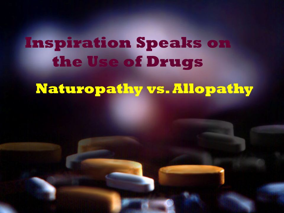 Inspiration Speaks on the Use of Drugs