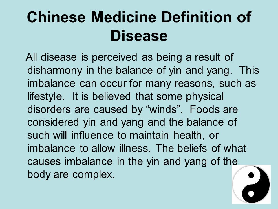 Chinese Medicine Definition of Disease