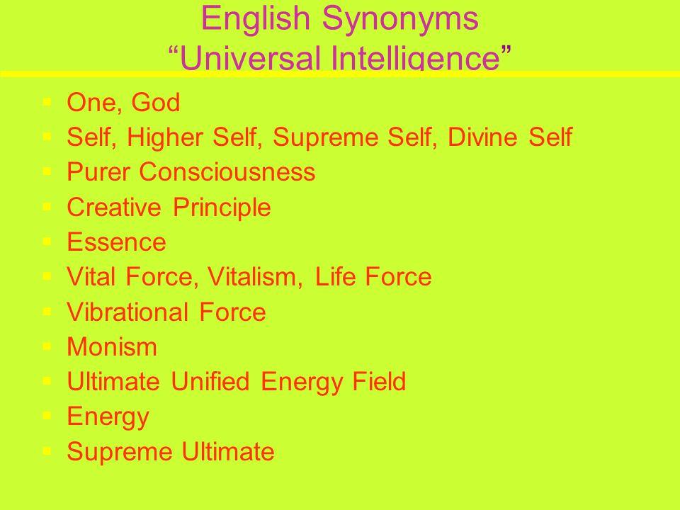 English Synonyms Universal Intelligence