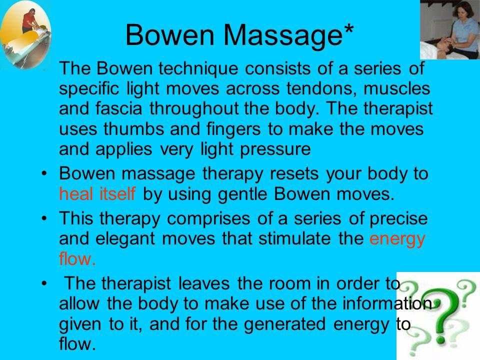 Bowen Massage*