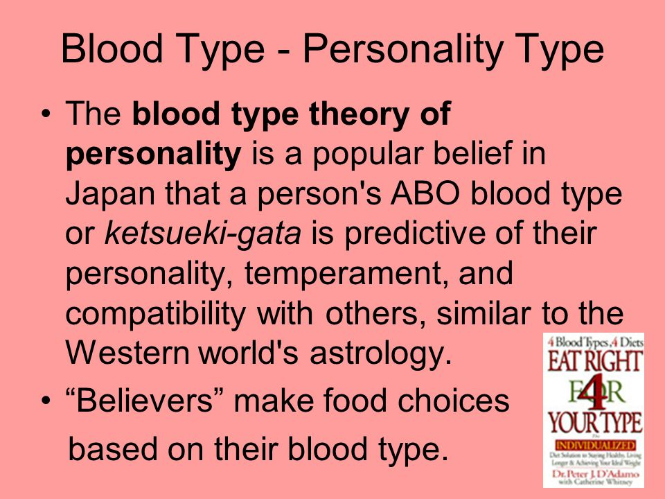 Blood Type - Personality Type