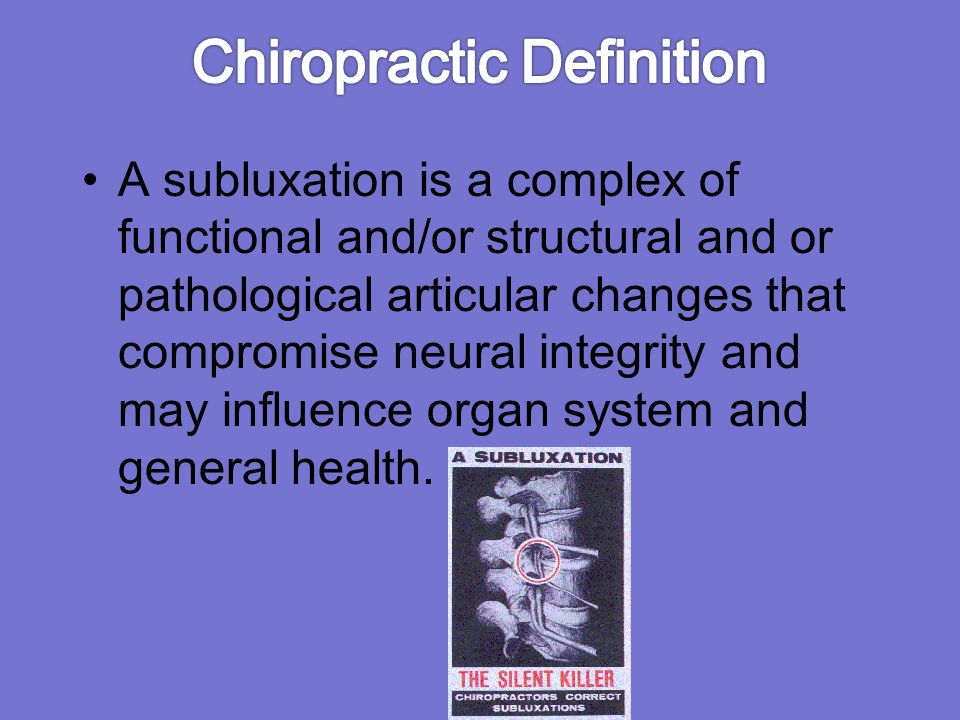Chiropractic Definition