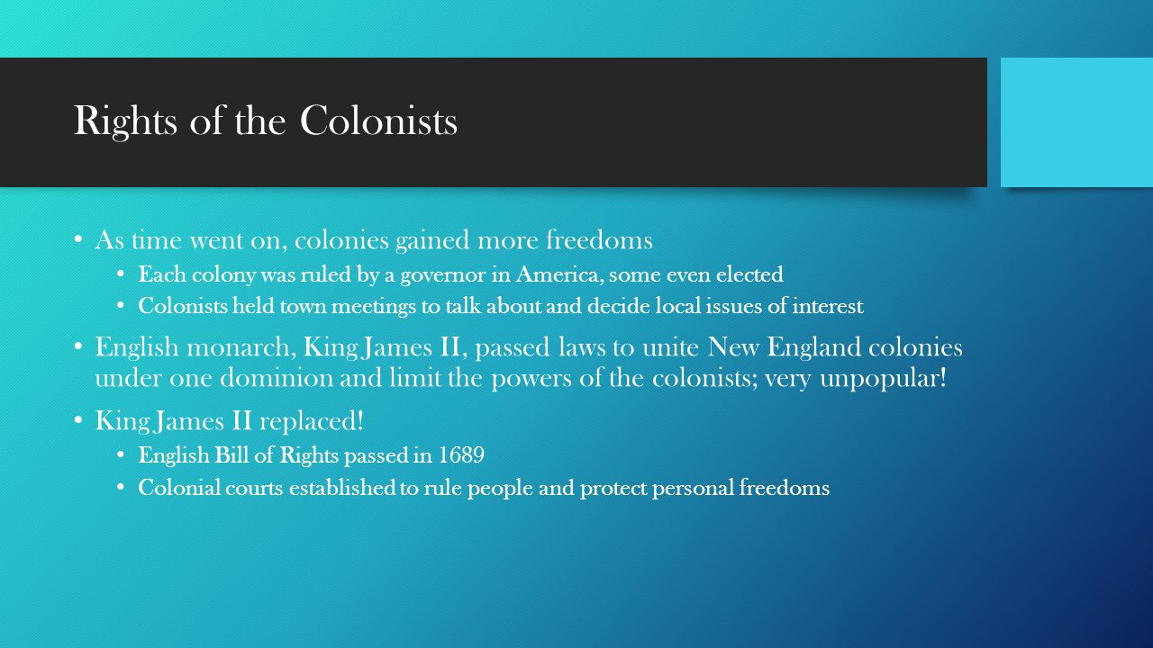 Rights of the Colonists