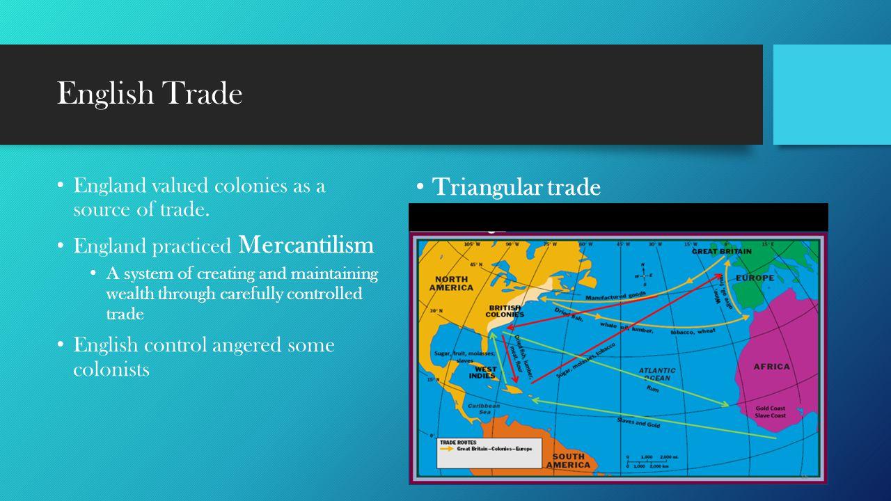 English Trade Triangular trade
