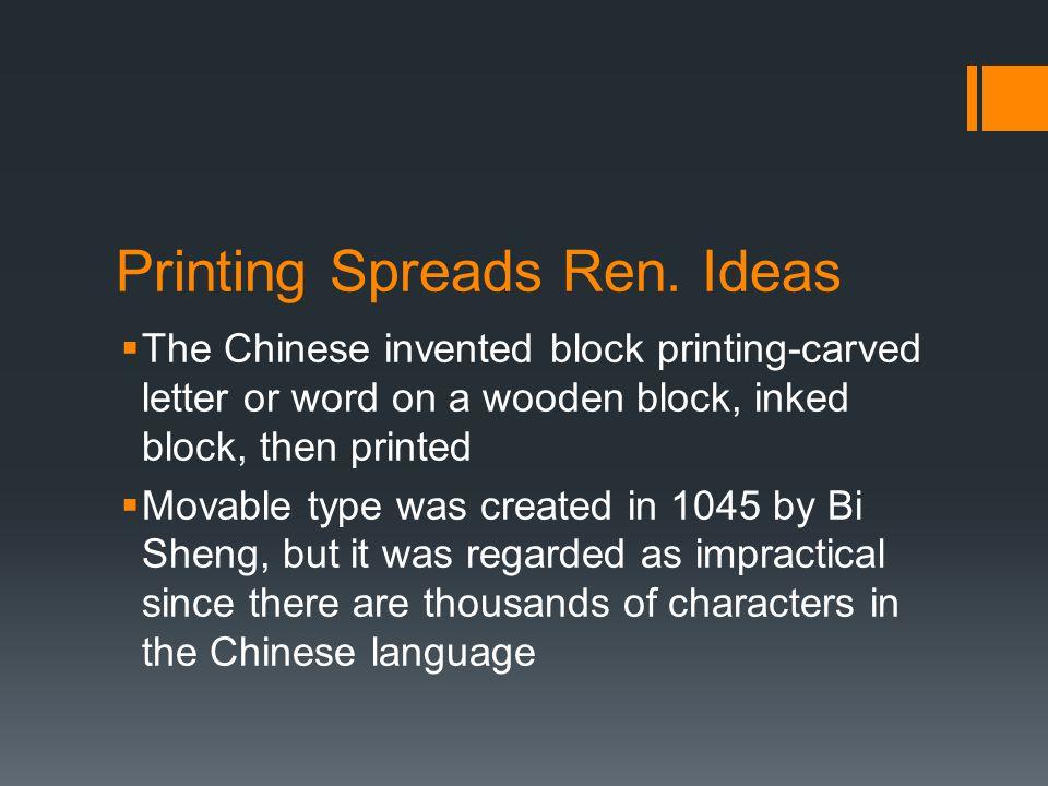 Printing Spreads Ren. Ideas