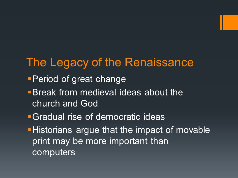 impact of renaissance The renaissance began after the plague in the 14th and 15th centuries and was  fueled by  martin luther's book 95 theses had a great effect on people.