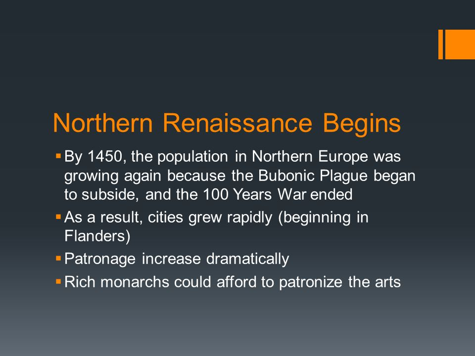 Northern Renaissance Begins