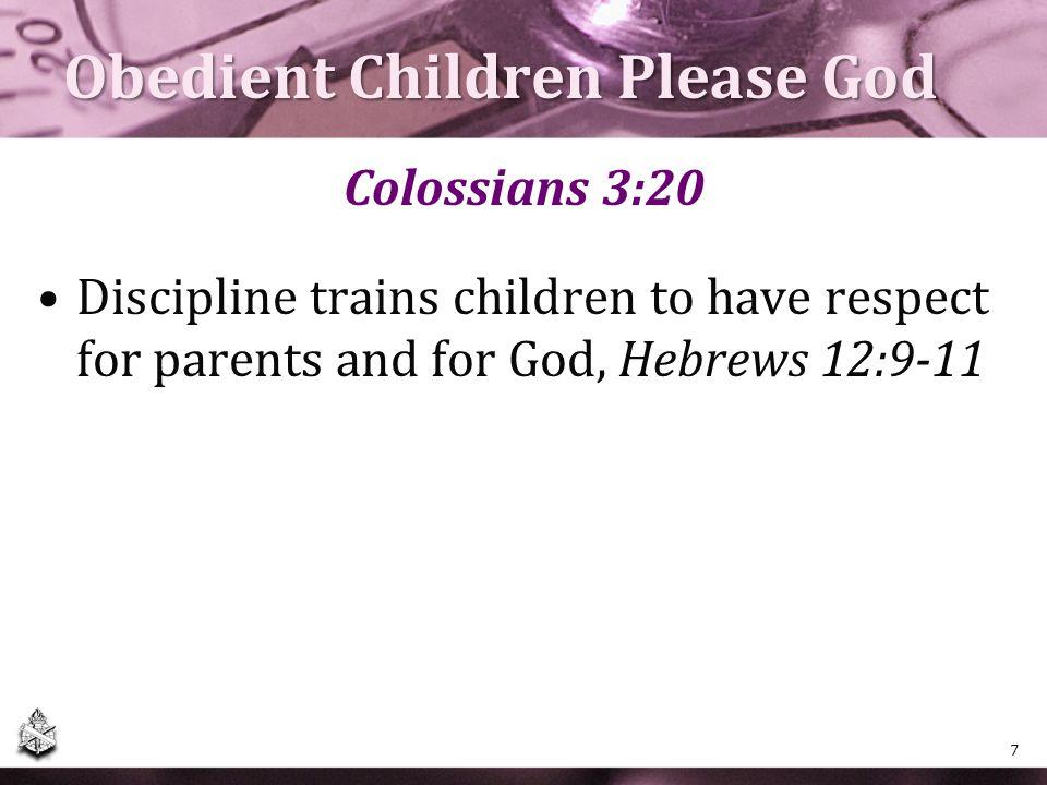 Obedient Children Please God