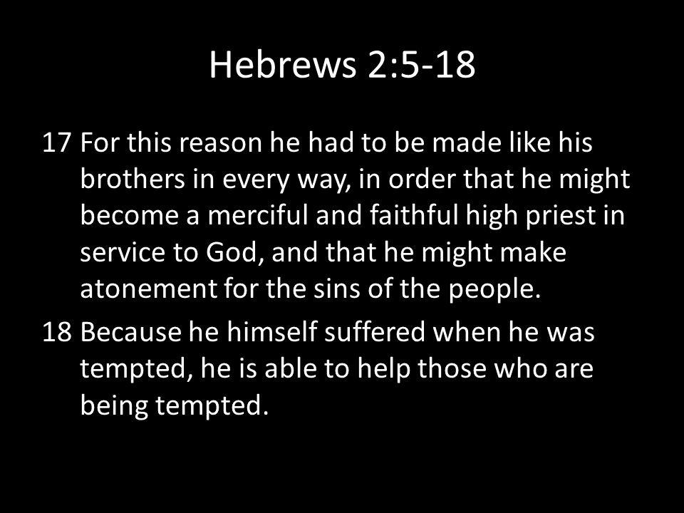 Hebrews 2:5-18