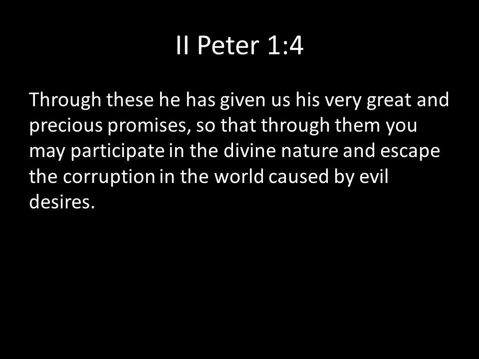 II Peter 1:4
