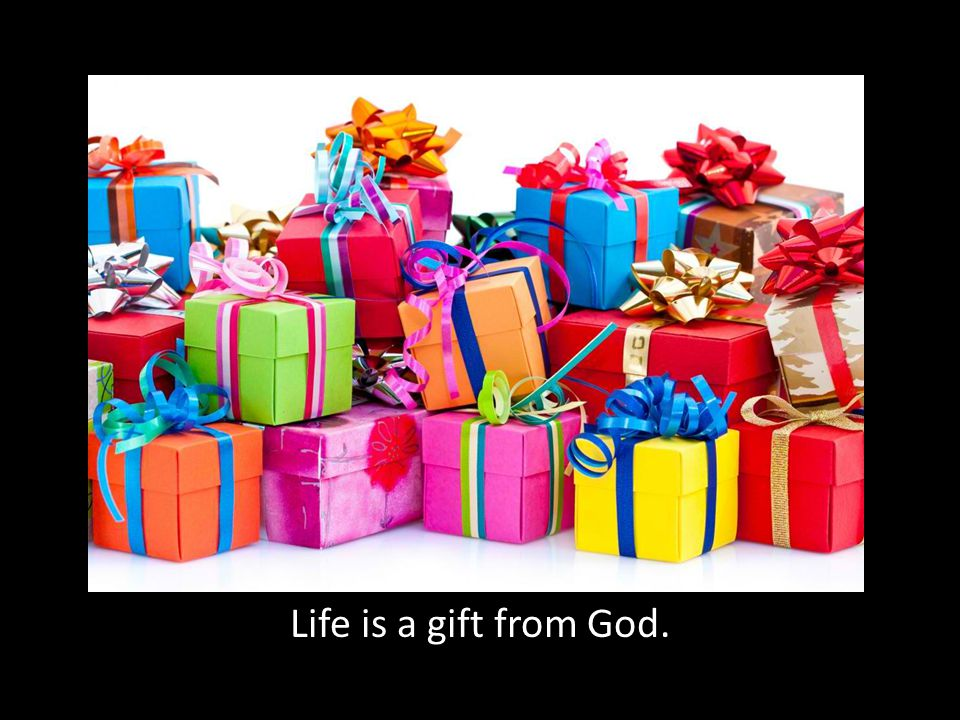 Life is a gift from God.