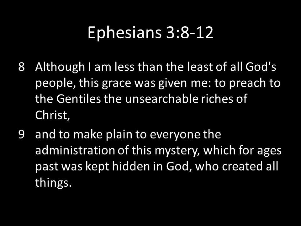 Ephesians 3:8-12