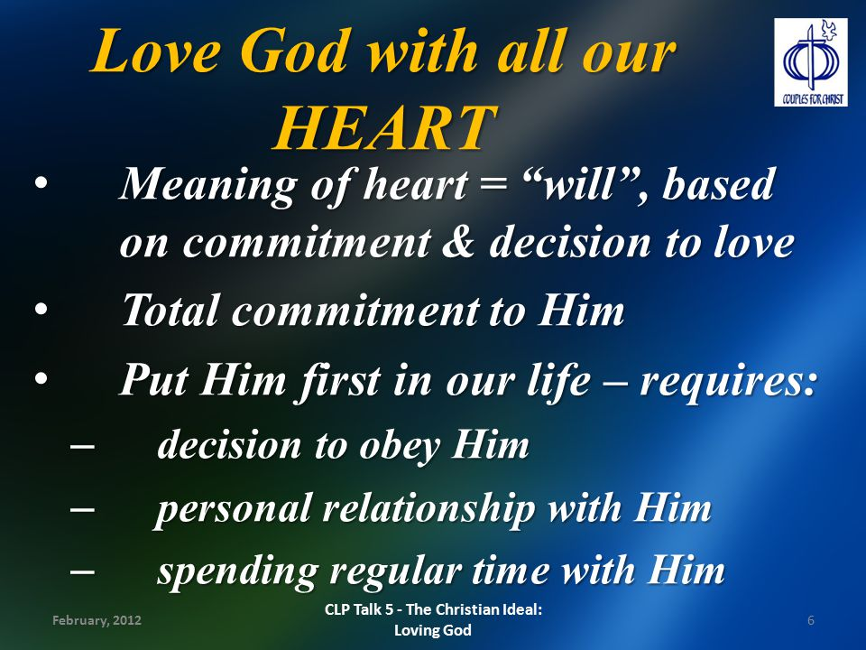 Love God with all our HEART