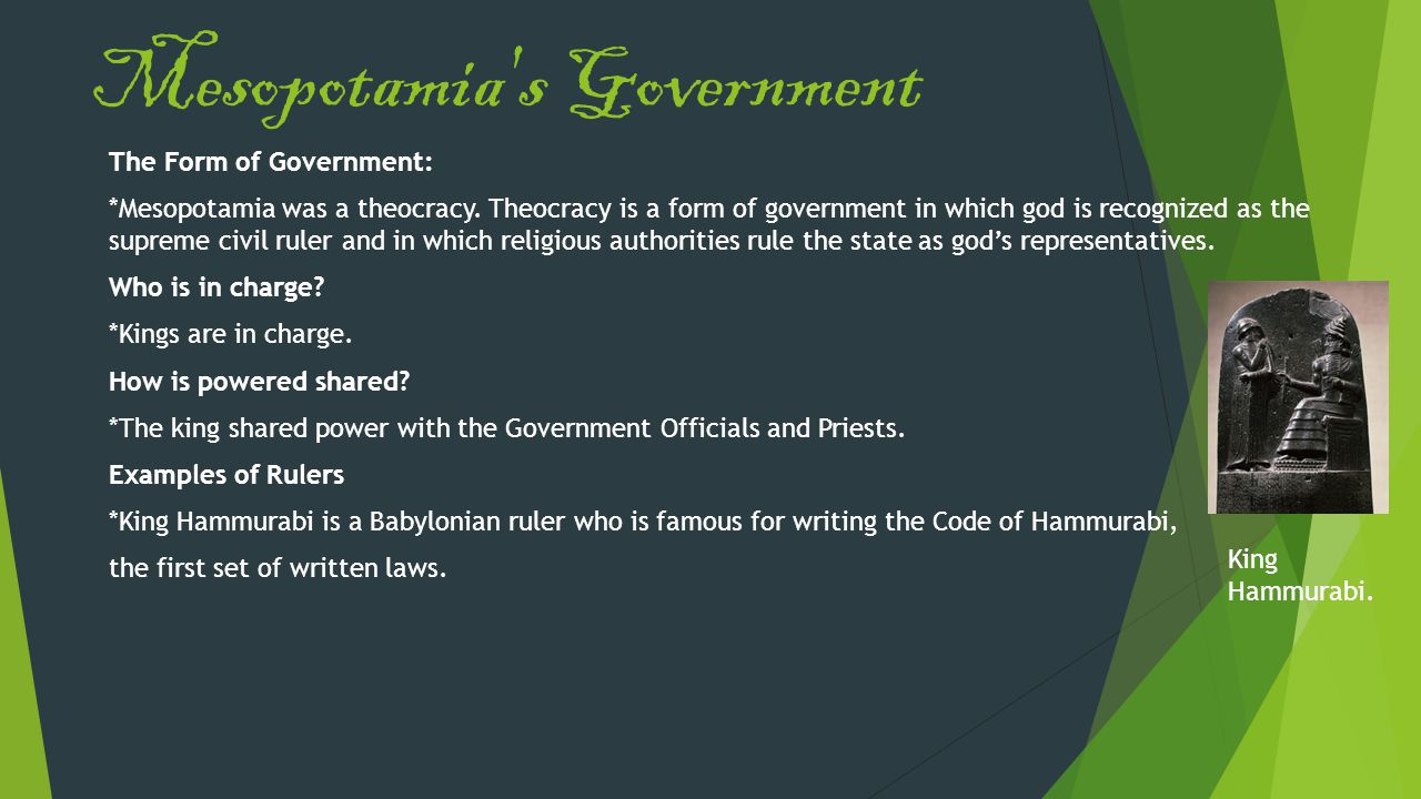 Mesopotamia s Government