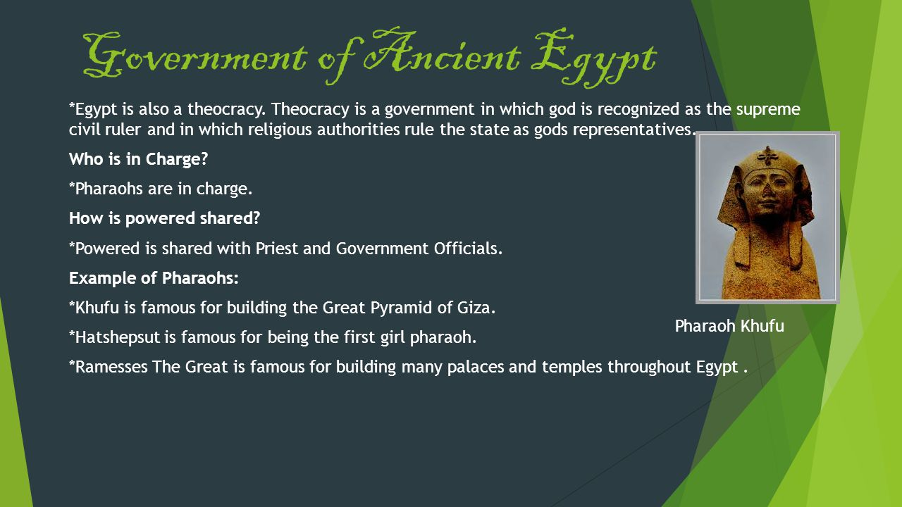 Government of Ancient Egypt