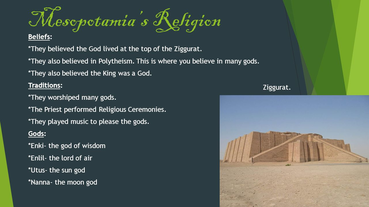 Mesopotamia's Religion
