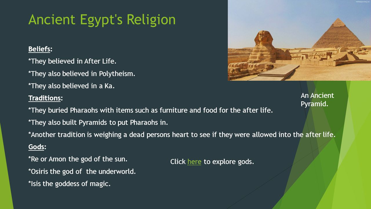 Ancient Egypt s Religion