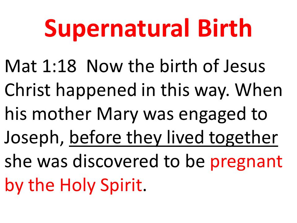 Supernatural Birth