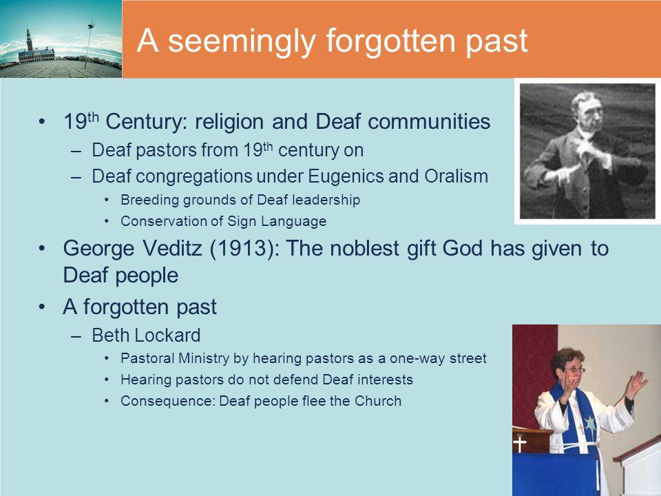A seemingly forgotten past