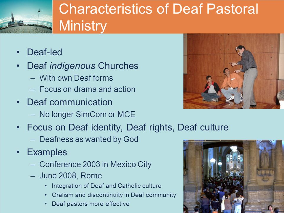 Characteristics of Deaf Pastoral Ministry