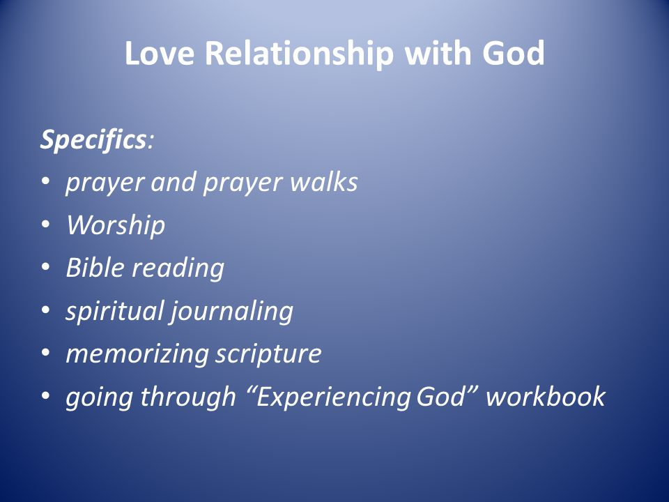 Love Relationship with God