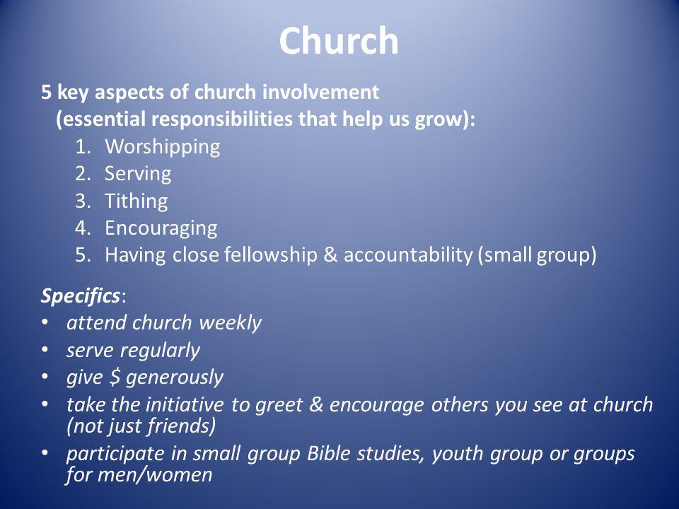 Church 5 key aspects of church involvement